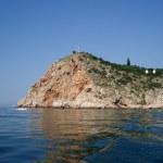 costa rochosa do mar — Foto Stock