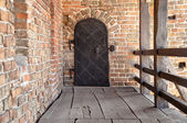 Old ferrous door — Stock Photo