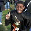 Champion - little league football — Stockfoto