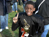 Champion - little league football — Stock Photo