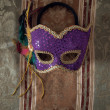 Stock Photo: Carnival mask on fabric 3