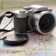 Royalty-Free Stock Photo: Camera on map 2