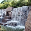 Stock Photo: FDR Memorial waterfall fountain 3