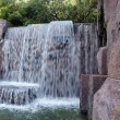 Stock Photo: FDR Memorial waterfall fountain 2