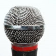 Stock Photo: Vocal microphone head close up