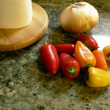 Peppers on kitchen counter 2 - Foto de Stock  