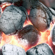Charcoal - smoldering in flames — Stock Photo #2268239