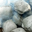 Charcoal - smoldering close up view - Stock Photo
