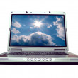 Computer - laptop bluesky - Stock Photo