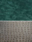Fabric group - faux suede and geometric — Stock Photo