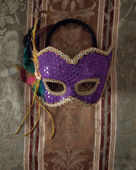 Carnival mask on fabric 3 — Stock Photo