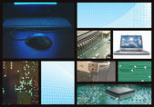 Computer technology collage — Stock Photo