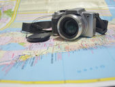 Camera on map 3 — Stockfoto