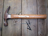 Hammer and nails 2 — Stock Photo