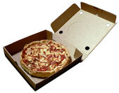 Pizza in open box 2008 — Stock Photo