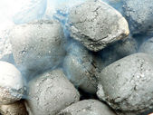 Charcoal - smoldering close up view — Stock Photo