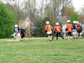 Lacrosse - little league game 3 — Stock Photo