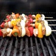 Shish kebabs on the grill — Stock Photo #2386047