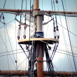 Photo of the main mast of a longship — Stock Photo