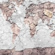 Global map parched earth - Stock Photo