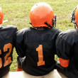 Football - little league players — Stock Photo