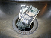 Money down the drain 2 — Stock Photo