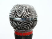 Vocal microphone head close up — Stock Photo