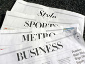 Newspaper - sections — Stock Photo