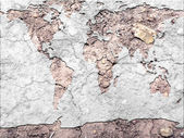 Global map parched earth — Stock Photo