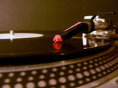 Dj turntable needle on record 2 — Stock Photo