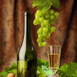 White wine still life — Stock fotografie