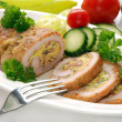 Stock Photo: Stuffed turkey meat and vegetables