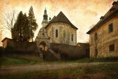 Grunge image of old church — Stock Photo