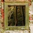 Window of ruined baroque church — Stock Photo