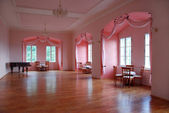 Castle room with pink alcoves — Stock Photo
