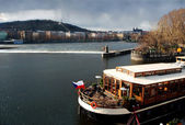 Prague and Vltava river — Stockfoto
