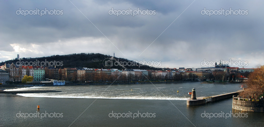  Panoramic  view of Prague and Vltava river  Stock Photo #2345222