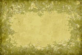 Grunge border in green-yellowish tones — Stock Photo