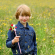 Boy with pinwheel — Stock Photo #2396853