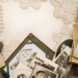 Vintage family photos - Stock Photo