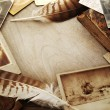 Vintage photos background — Stock Photo