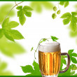 Design of beer and hops — Stock Photo