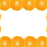 Frame of cut orange fruit — Stock Photo #2443038