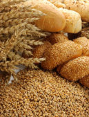 Grain, buns and rolls — Stock Photo