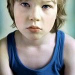 Portrait of sad boy — Stock Photo