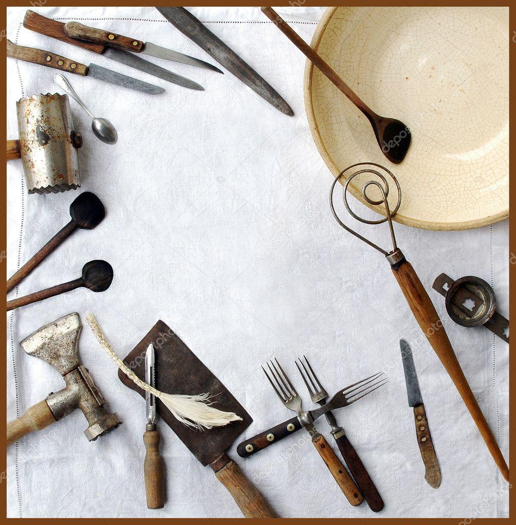 Vintage Kitchen Utensils Stock Photo Miiisha 2492667