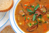 Potato soup in detail — Fotografia Stock