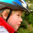 Boy in cyclist helmet — Stock Photo