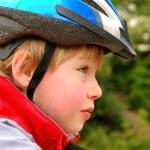 Boy in cyclist helmet — Stock Photo