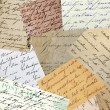 Vintage handwriting - Stock Photo
